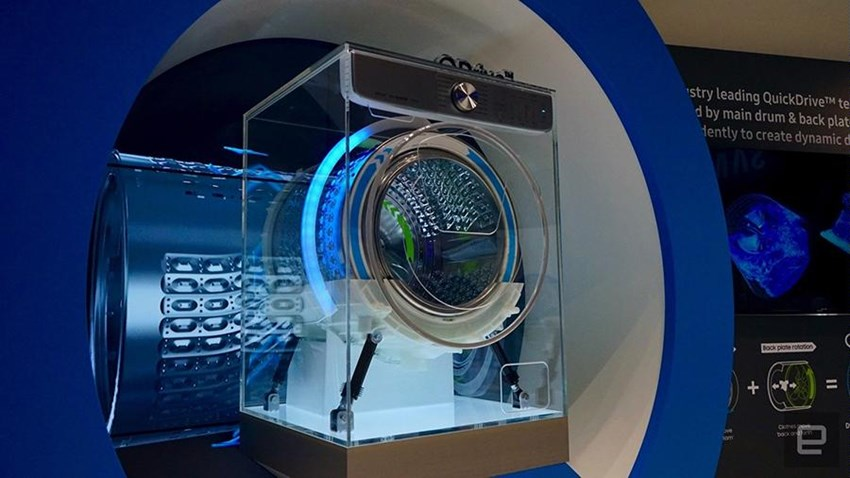 ماشین لباسشویی جدید سامسونگ از هوش مصنوعی بهره می برد