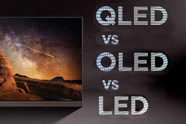 مقایسه فنی QLED ، OLED و LED