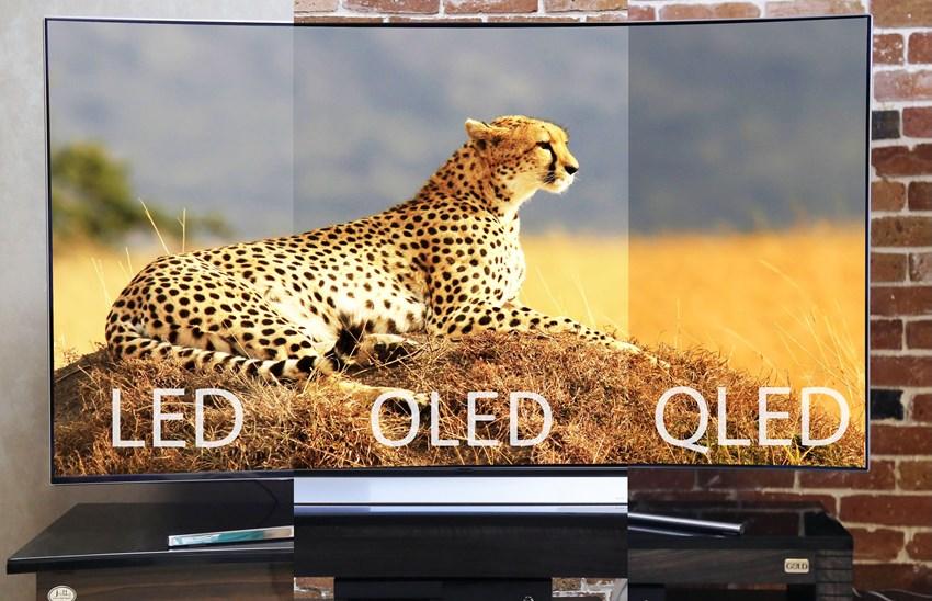 مقایسه QLED ، OLED و LED